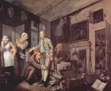 Tom Rakewell de William Hogarth
