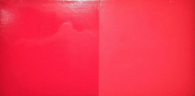 Rouge géranium par Duco et Valentine, Bertrand Lavier, 1989
