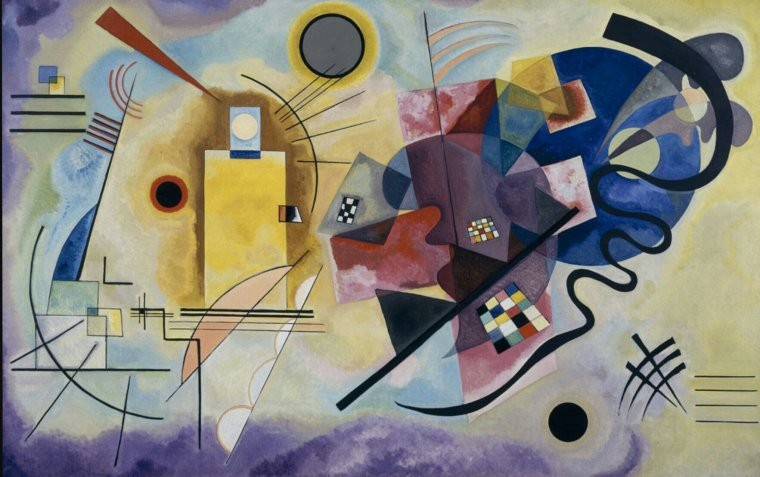 Jaune, rouge, bleu, Vassili Kandinsky, 1925