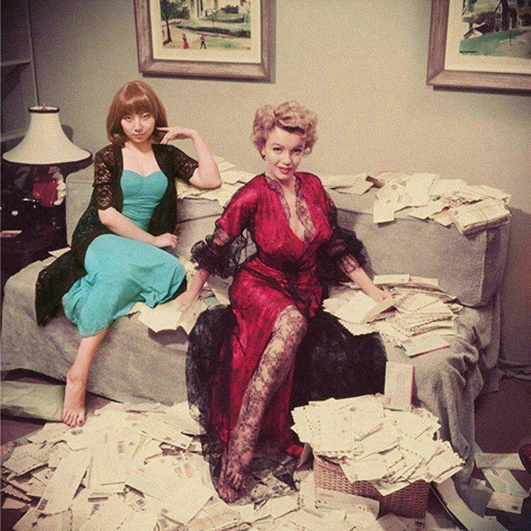 Silin Liu et Marilyn Monroe